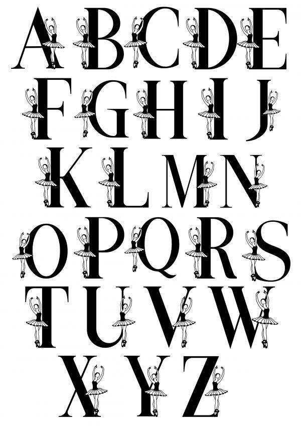 ballerina alphabet 1 scaled