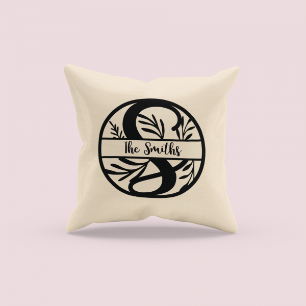 mockup of a sublimated pillow with a customizable background 3257 el1