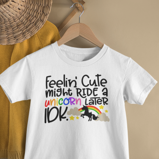 mockup of a kid s t shirt hanging from a wall rack 33736 6