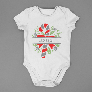 baby onesie mockup lying on a flat surface a15264 4