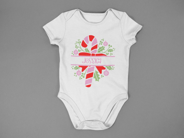 baby onesie mockup lying on a flat surface a15264 5