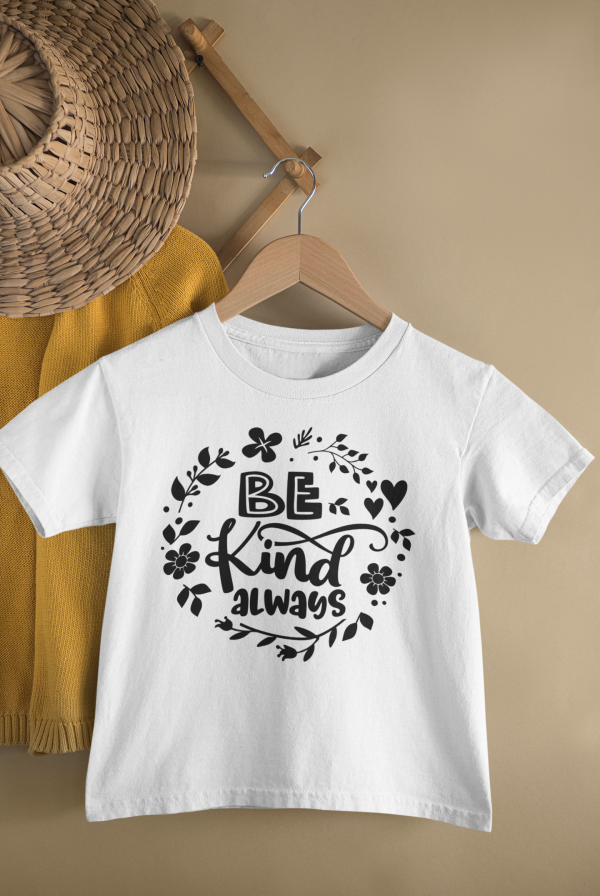 mockup of a kid s t shirt hanging from a wall rack 33736 15