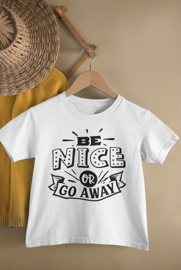 mockup of a kid s t shirt hanging from a wall rack 33736 17