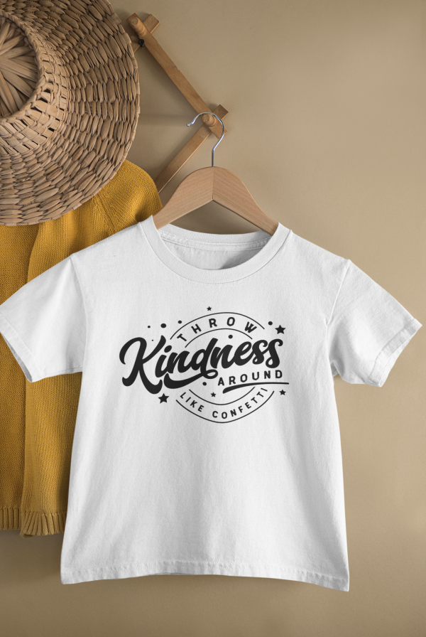 mockup of a kid s t shirt hanging from a wall rack 33736 20