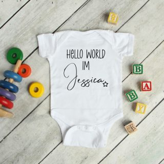 Hello World Name Introduction – Baby Grow