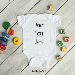 Create Your Own Personalised Baby Grow