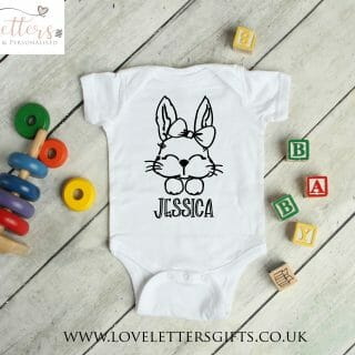 Personalised Bunny with Bow scaled